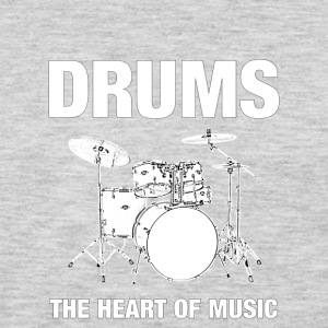 Drums The Heart Of Music - Men's Premium Long Sleeve T-Shirt