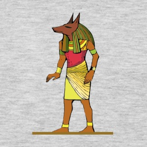 Ancient Egyptian Painting - Anubis, the Wolf God - Men's Premium Long Sleeve T-Shirt