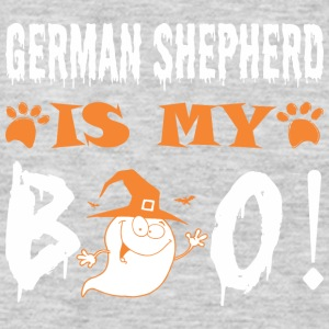 German Shepherd Is My Boo Happy Halloween - Men's Premium Long Sleeve T-Shirt