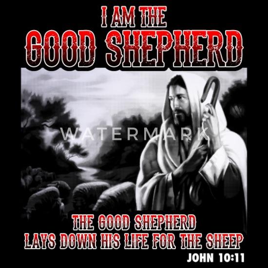 Christianity Shepherd Bible Verse Men S Premium Long Sleeve T Shirt Black