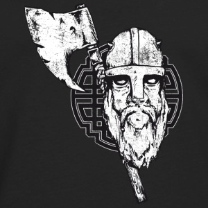 viking with axe crashed - Men's Premium Long Sleeve T-Shirt