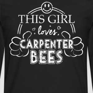 Girl Loves Carpenter Bees Shirt Pet Bug Insect Shirt - Men's Premium Long Sleeve T-Shirt