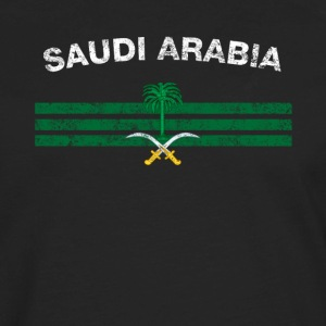 Saudi or Saudi Arabian Flag Shirt - Saudi or Saudi - Men's Premium Long Sleeve T-Shirt