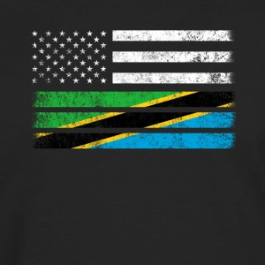 Tanzanian American Flag - USA Tanzania Shirt - Men's Premium Long Sleeve T-Shirt