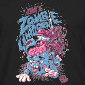 Halloween Attack Of The Zombie Unicorn Shirt - Men's Premium Long Sleeve T-Shirt
