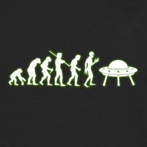 Human Evolution Alien - Men's Premium Long Sleeve T-Shirt