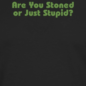 Are You Stoned Or Just Stupid - Men's Premium Long Sleeve T-Shirt