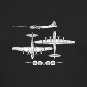 B 29 Superfortress Schematic Graphic Shirt - Men's Premium Long Sleeve T-Shirt