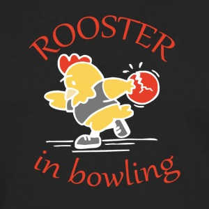 Rooster in Bowling - Men's Premium Long Sleeve T-Shirt