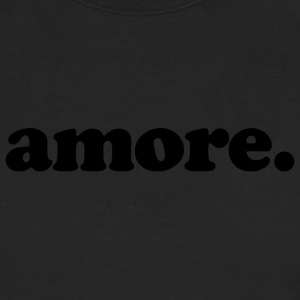 Amore - Fun Design (Black Letters) - Men's Premium Long Sleeve T-Shirt