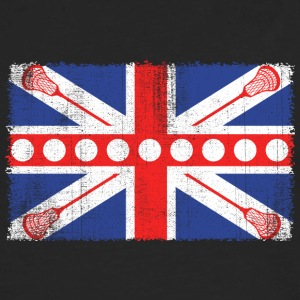 Vintage UK Flag Lacrosse Balls + Bats  Laxing - Men's Premium Long Sleeve T-Shirt