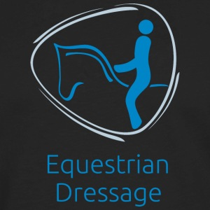 Equestrian_Dressage_blue - Men's Premium Long Sleeve T-Shirt