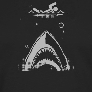 Shark Attack Swimmer - Men's Premium Long Sleeve T-Shirt