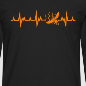 Honey Bee Heartbeat Shirt - Men's Premium Long Sleeve T-Shirt