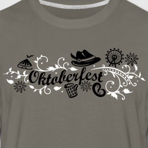 Oktoberfest decoration with traditional elements - Men's Premium Long Sleeve T-Shirt