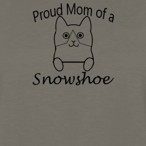Proud Mom of a Snow Shoe Cat - Men's Premium Long Sleeve T-Shirt