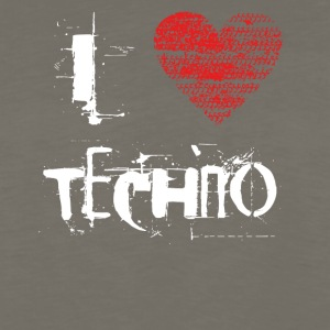 I love techno rave goa hardtek hard - Men's Premium Long Sleeve T-Shirt