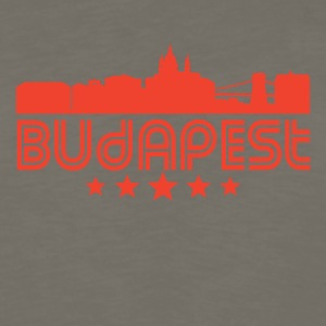 Retro Budapest Skyline - Men's Premium Long Sleeve T-Shirt