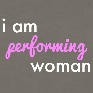 Performing woman logo - Men's Premium Long Sleeve T-Shirt
