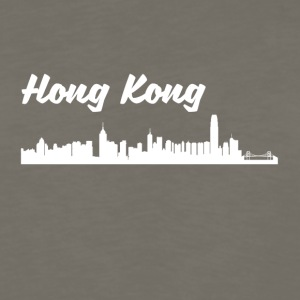 Hong Kong Skyline - Men's Premium Long Sleeve T-Shirt