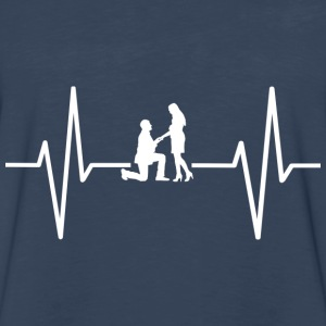 My heart beats for marrying! gift - Men's Premium Long Sleeve T-Shirt