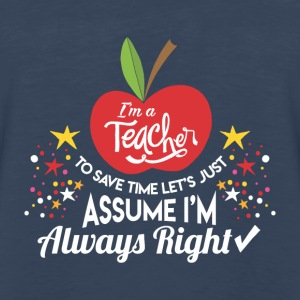 SCHOOL KINDERGARDEN: I'M A TEACHER PRESENT - Men's Premium Long Sleeve T-Shirt