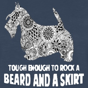 beard and a skirt - Men's Premium Long Sleeve T-Shirt