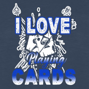I Love Playing Cards Shirt - Men's Premium Long Sleeve T-Shirt