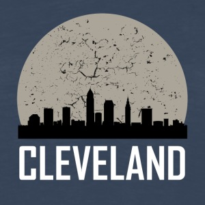 Cleveland Full Moon Skyline - Men's Premium Long Sleeve T-Shirt