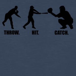 Throw Hit Catch Baseball - Men's Premium Long Sleeve T-Shirt