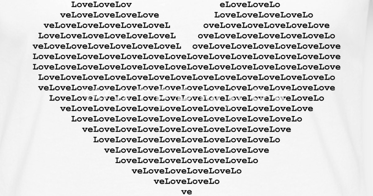 Isle Of Black Ascii Heart By Isles Of Shirts By Isles Of Shirts