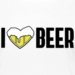 i love beer, beer heart - Women's Premium Long Sleeve T-Shirt