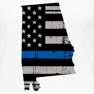 Alabama Thin Blue Line Police Cop Wife Gift - Women's Premium Long Sleeve T-Shirt