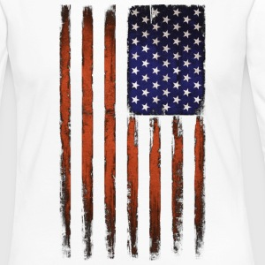 American flag Patriotic Vintage - Women's Premium Long Sleeve T-Shirt