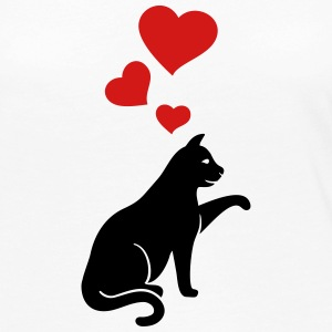 cat with hearts - Women's Premium Long Sleeve T-Shirt