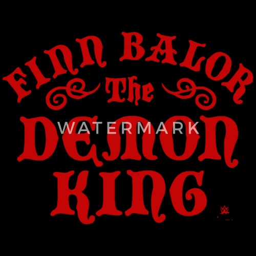 logo wwe the demon king finn balor by spreadshirt