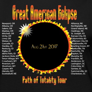 Great American Eclipse Path of Totality City List - Women's Premium Long Sleeve T-Shirt