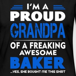 Baker Shirt - Proud Grandpa Of A Baker Shirt - Women's Premium Long Sleeve T-Shirt