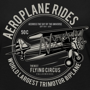 Aeroplane Rides. Retro Flying Circus Fan Shirt! - Women's Premium Long Sleeve T-Shirt