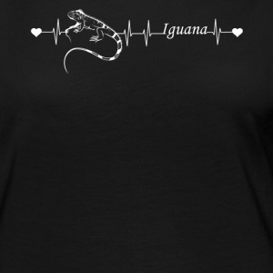 Iguana Heartbeat Shirt - Women's Premium Long Sleeve T-Shirt