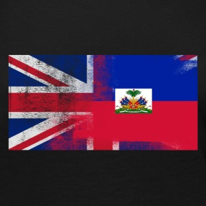 British Haitian Half Haiti Half UK Flag - Women's Premium Long Sleeve T-Shirt