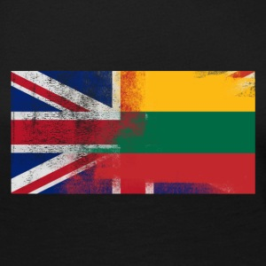 British Lithuanian Half Lithuania Half UK Flag - Women's Premium Long Sleeve T-Shirt