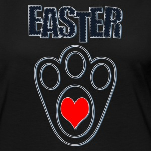 Easter Bunny Footprints, Easter Heart Bunny - Women's Premium Long Sleeve T-Shirt