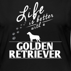 Funny Golden Retriever Gift Life Is Better With A Golden Retriver Paws - Women's Premium Long Sleeve T-Shirt
