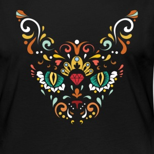 Sugar Skull Cat Halloween Día de los muertos - Women's Premium Long Sleeve T-Shirt