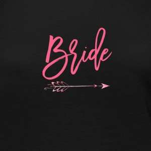 Womens Bride Shirts With Pink Arrow - Women's Premium Long Sleeve T-Shirt