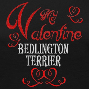 A romantic Valentine with my Bedlington Terrier - Women's Premium Long Sleeve T-Shirt