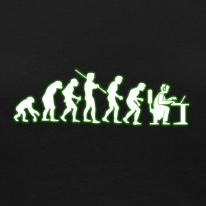 Human Evolution Computer Geek - Women's Premium Long Sleeve T-Shirt