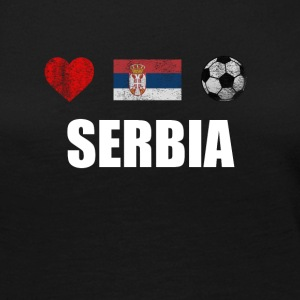 Serbia Football Shirt - Serbia Soccer Jersey - Women's Premium Long Sleeve T-Shirt