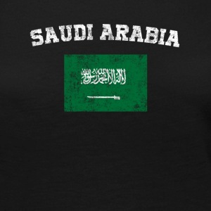 Saudi Arabian Flag Shirt - Vintage Saudi Arabia - Women's Premium Long Sleeve T-Shirt